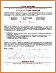 Bookkeeping Resume Art Resume Examples