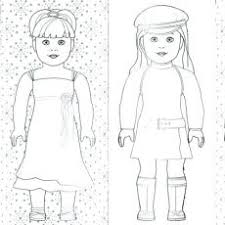 Peaceful Design Ideas American Girl Doll Coloring Page Valuable