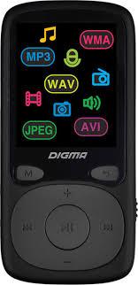<b>MP3 плеер Digma B4</b> 8Gb, черный — купить в интернет-магазине ...