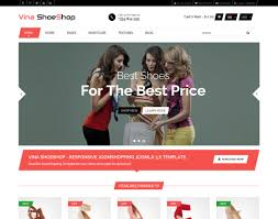 3 Template Vina Shoeshop Responsive Joomla 3 X Joomshopping Template
