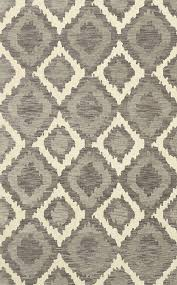 oval 6 x 9 area rugs bella machine woven wool gray area rug