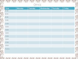 Cute Printable Weekly Schedule - April.onthemarch.co