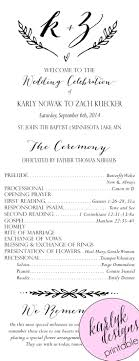 Wedding Program Inclusions Awesome Wedding Program Free Template Images Example Resume 23