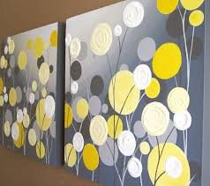 wall art textured yellow and grey abstract flower garden two 20x20 acrylic paintings on canvas made to order 249 00 via etsy  on yellow and grey wall art canvas with wall art textured yellow and grey abstract flower garden two 20x20