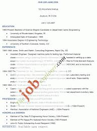 Job Resume 3 Cv How To Write For With Exper Sevte