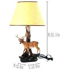 deer print lampshade antler lamp base medium size of table lamps make horn