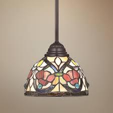 Tiffany Style Kitchen Lights Quoizel Larissa Tiffany Style Mini Pendant Light Kitchen