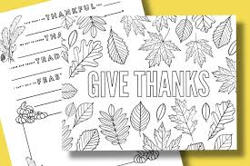 Free Thanksgiving Coloring Pages To Help Children Express Gratitude