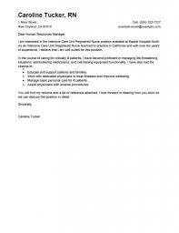 Nursing Cover Letter Template Free Resume Clintensive Care Unit Registered Nurse Healthcare