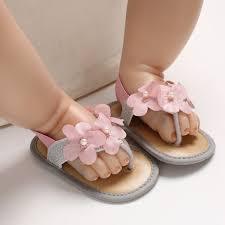 New <b>design</b> girl sandals <b>summer</b> cute infant flower <b>first</b> shoes Soft