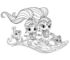 Shimmer And Shine Coloring Pages Coloringrocks