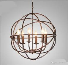 rh lighting restoration hardware vintage pendant lamp foucault s with regard to rustic orb chandelier ideas 18