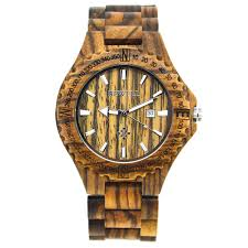 2018 new style bewell handmade sandalwood watch calendar wood watches for man gift items with box support dropshipping 023a in quartz watches from watches