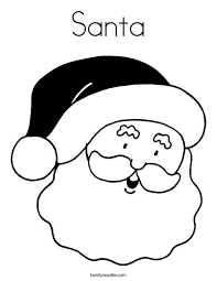 Santa Coloring Page Twisty Noodle