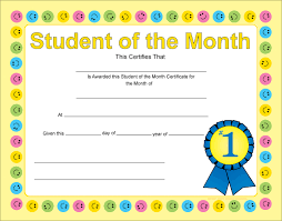Student Of The Month Certificate Templates Cheap Printable Student Certificates Find Printable Student