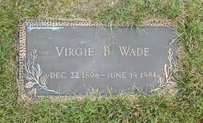 Virgie Bertie Backus Wade (1896-1984) - Find A Grave Memorial