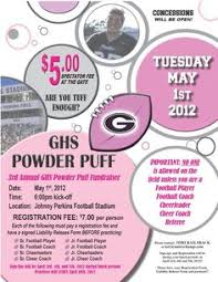 powder puff football flyers go skins neshaminy memories pinterest