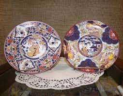 Plates Wall Decor 2 Japanese Imari Wall Decor Plates Peng Niao Bird Geisha