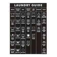 Laundry Symbols Guide Magnet