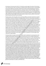 monetary fiscal policy essay year hsc economics thinkswap monetary fiscal policy essay