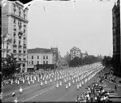 surreal images from the ku klux klan s on washington in of 1925 over 60 000 ku klux klan members ed to the white house