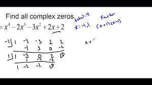 finding complex zeros of a polynomial lesson 2