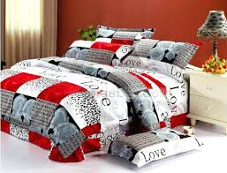 brilliant red bedding comforters duvet covers bedspreads quilts bed in with regard to comforter sets king