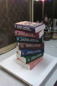 Birthday Cake Made To Look Like The Harry Potter Books Harrypotter