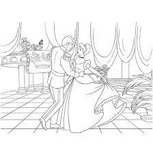シンデレラ舞踏会 ぬりえのダウンロードページですぬりえクラフト