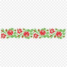 Flower Edge Design Red Flower