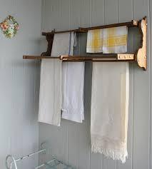 image of wall mounted drying rack minimalist