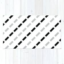 black and white geometric rug black white gray stripes dashed lines abstract geometric rug black and