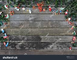Christmas Background Rustic Ornaments Stock Photo 749293210 ...