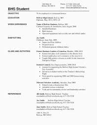 Free High School Resume New 24 Best Resume Template For High School