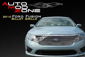 2010 ford fusion boltover upper billet grille grill show logo