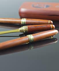 engraved pen pencil letter opener t set