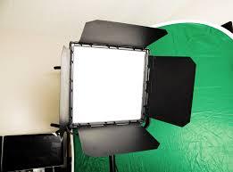 small studio lighting. visual buddha led light and green screen small studio lighting g