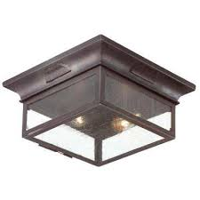 newton 2 light old bronze outdoor flushmount
