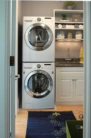 washer dryer for small space. Unique Washer Stacked Washerdryer In Small Space Laundry Throughout Washer Dryer For Small Space Pinterest