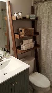 over the toilet ladder shelf choose color stain paint bathroom storage leaning ladder shelf tank topper over hamper shelf wood shelf