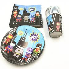 <b>60pcs</b>/<b>lot</b> Superhero disposable party set birthday party supplies ...