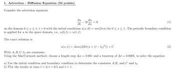 1 advection diffusion equation 50
