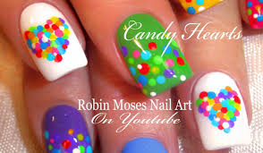 Robin Moses Nail Art: Easy Valentine Nails! Cute Rainbow Candy ...