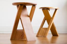 Wooden folding stool Step Stool Roger Tallon Folding Stool Underside Pinterest Decoding Tallons Iconic Folding Stools To Diy Portable Work