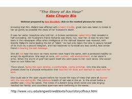lecture notes on kate chopin s the story of an hour  vcu edu engweb webtexts hour storyofhour html