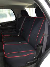 chevrolet suburban full piping seat covers rear seats