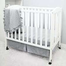 mini crib bed sets baby company heavenly soft 3 piece mini portable crib bedding set grey