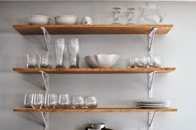 diy wall shelves with wooden material for your kitchen