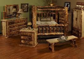 Log Bedroom Furniture Furniture Accessories Extraordinary Pine Log Wood Bed Frame