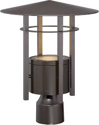 designers fountain led34036 bnb englewood modern burnished bronze led exterior lamp post light fixture loading zoom